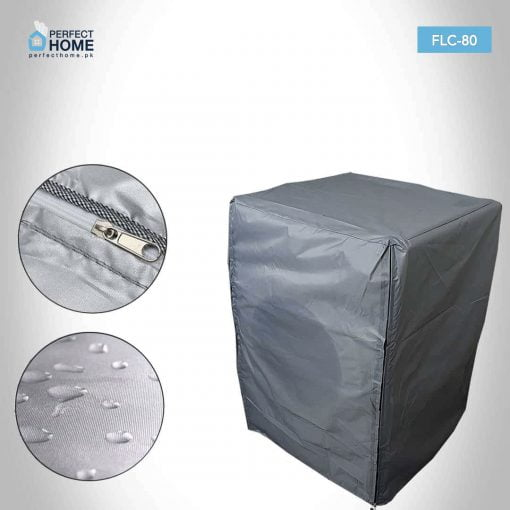 FLC-80 front loader washing machine cover closed