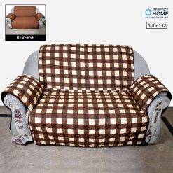 Sofa cover brown check for your Sofa