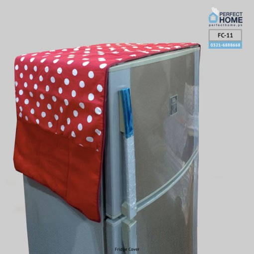 Red Polka Dots fridge cover