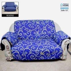 Sofa-157 Blue design cover for sofa