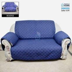 Sofa-158 Plain blue sofa cover