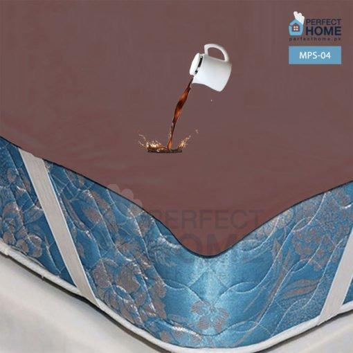 MPS-04 waterproof mattres protector flat sheet brown