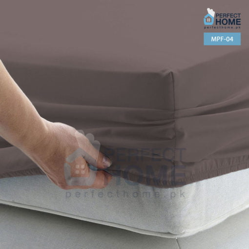 mpf-04 brown mattress protector fitted 2
