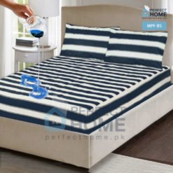 mpf-bs blue striped mattress protector fitted