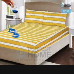 mpf-ys yellow striped mattress protector fitted
